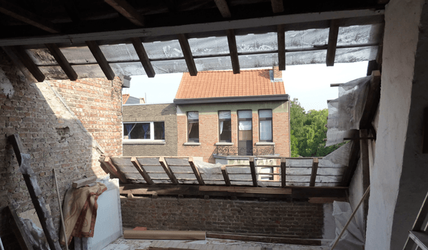 Renovatie dakconstructie