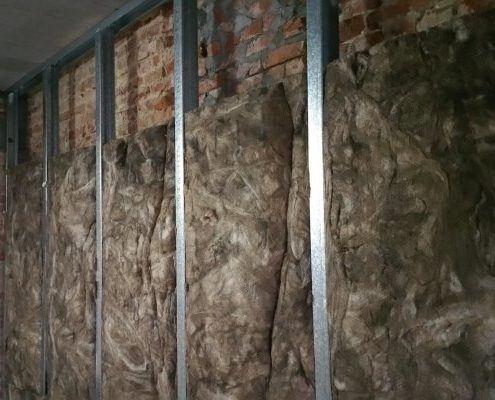 Isolatie muur binnenzijde