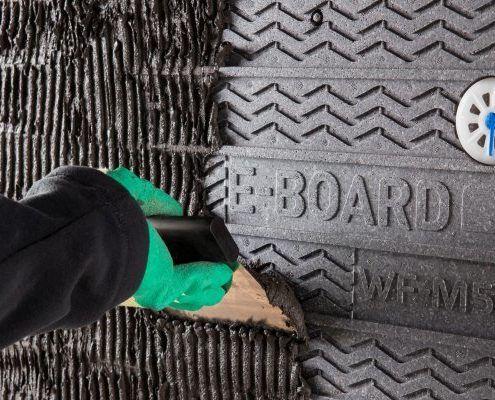 Buitengevelisolatie Esoleren met Vandersanden E-board