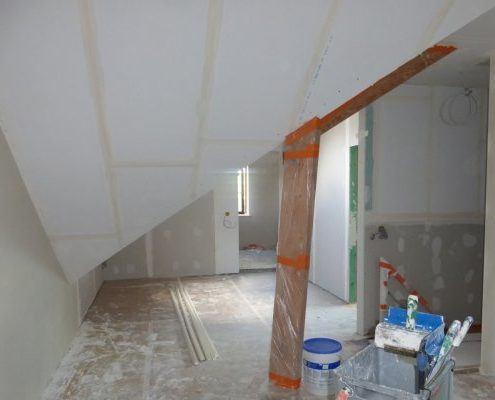 Pleisterwerken en gyproc en schilderwerk