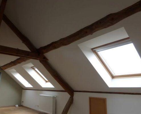 Rustieke dakstructuur in het zicht