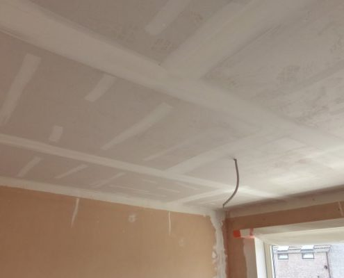 Verlaagd plafond met gyproc