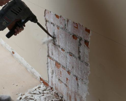 Pleisterwerk verwijderen