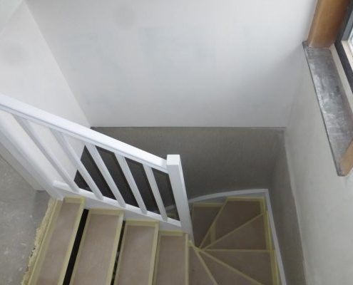 Plaatsing van vaste trap