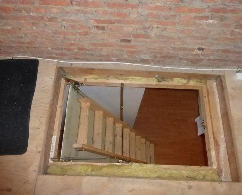 Zolderluik vervangen door vaste trap