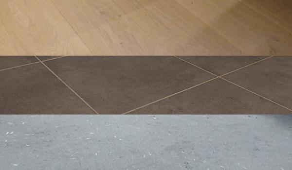 Vloerbekleding met tegels of laminaat