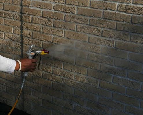 Waterafstotend behandelen gevel hydrofuge